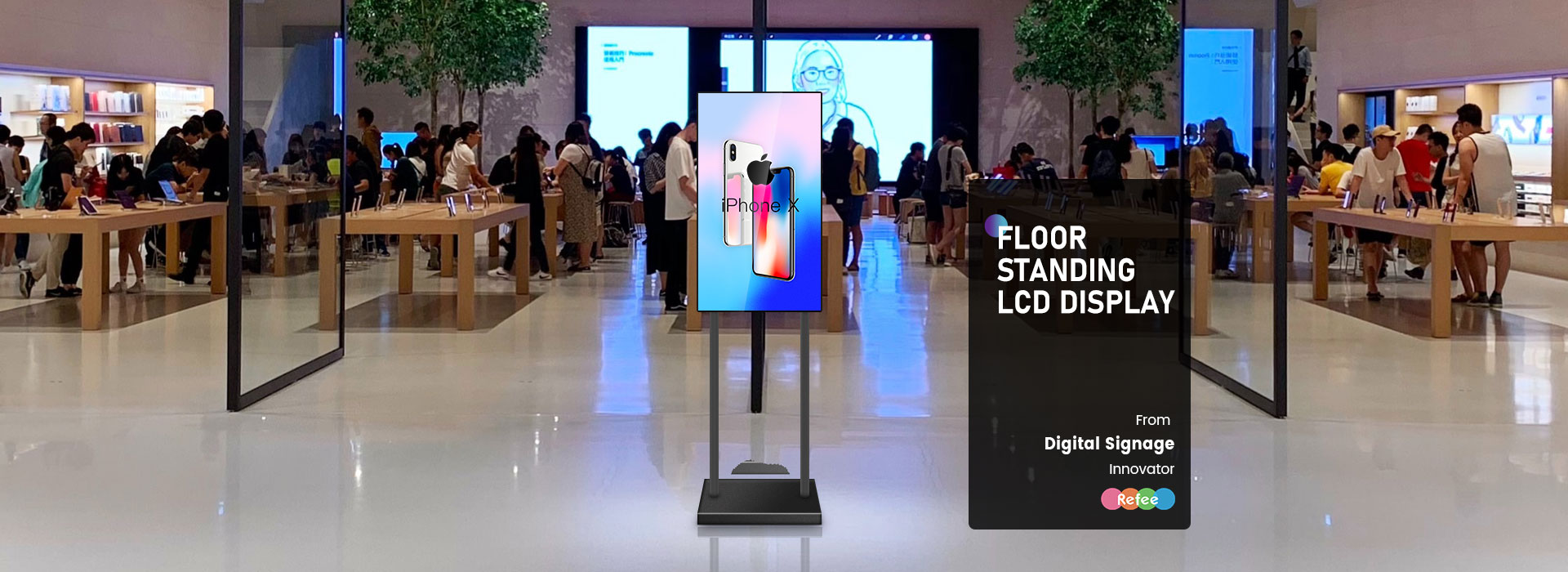 40-inch Floor Standing LCD Display